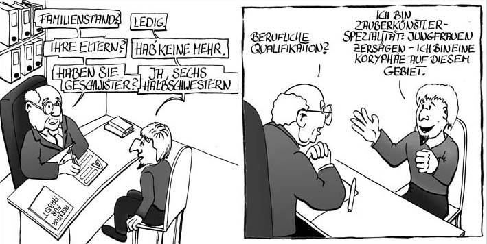 Arbeitsamt Cartoon Comic