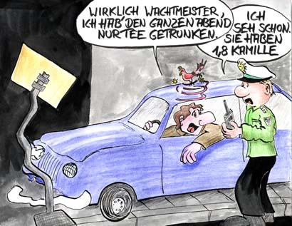 Cartoon-Polizei