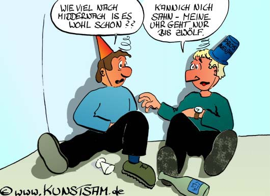 Neujahr_Cartoon: Neujahrcartoon