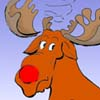Rudolph, das Rentier - Cartoon